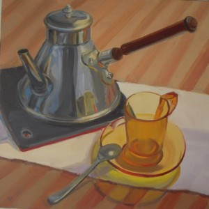 'Last Cup' Oil 20x20