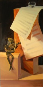 'Sounds of Music' Oil 36x18