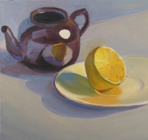 'Teapot and Lemon' 12x12