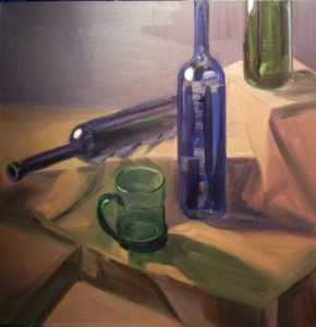 'Two and a Half Bottles' 24x24